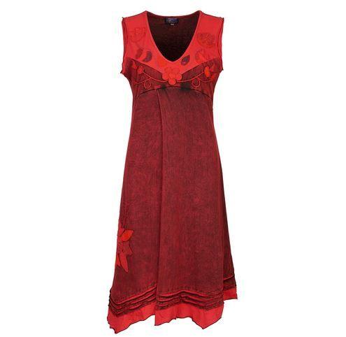 Sleeveless Flower Dress (RED)