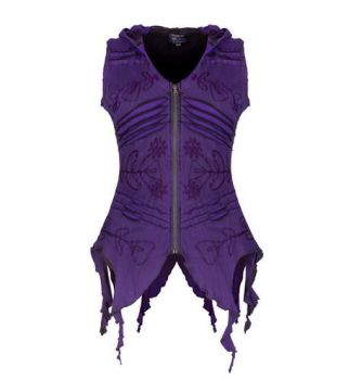 Pixie Hooded Zip Top (PUR)