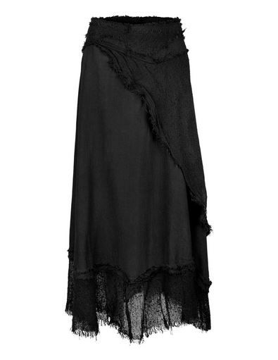 Long Gypsy Wrap Skirt (BLK)