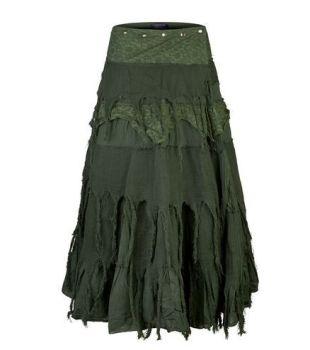 Steampunk Wrap Skirt (GRN)