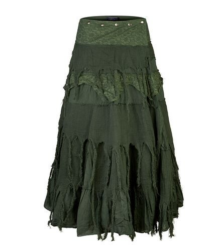 Steampunk Wrap Skirt (GRN)