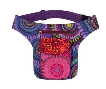 Belt Bag - Colourful Cotton print belt bag