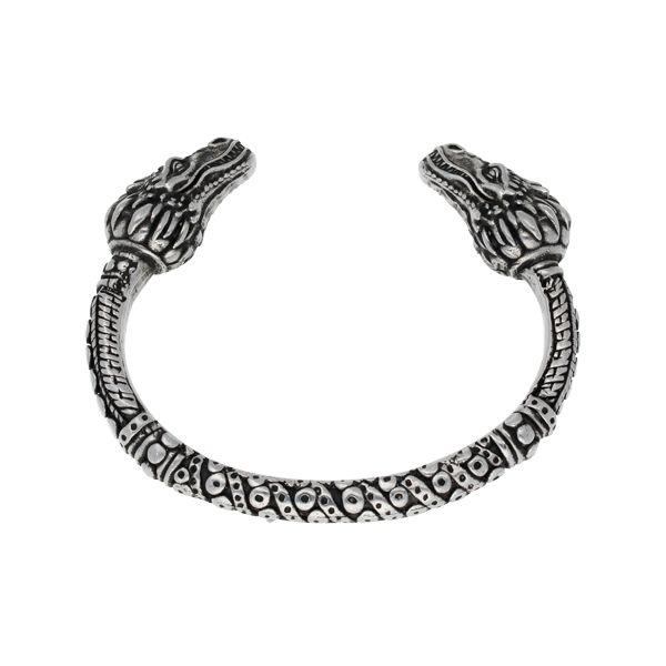 Dragon Heads Torc Bangle by St Justin of Penzance