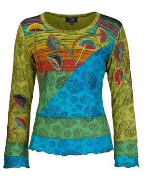 Mushroom long sleeve top (GRN)