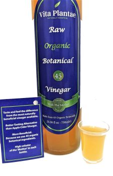 "Botanical 45 Blend Vinegar with the""Mother"" 750ml  The most naturally beneficial vinegar available."