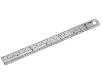 150mm / 6 inch Metal Ruler