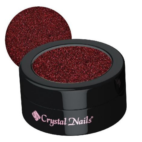 Crystal Nails Glitter Small Claret