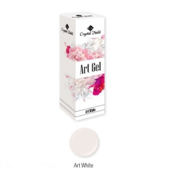 Crystal Nails Art Gel - White