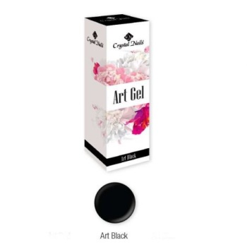 Crystal Nails Art Gel - Black