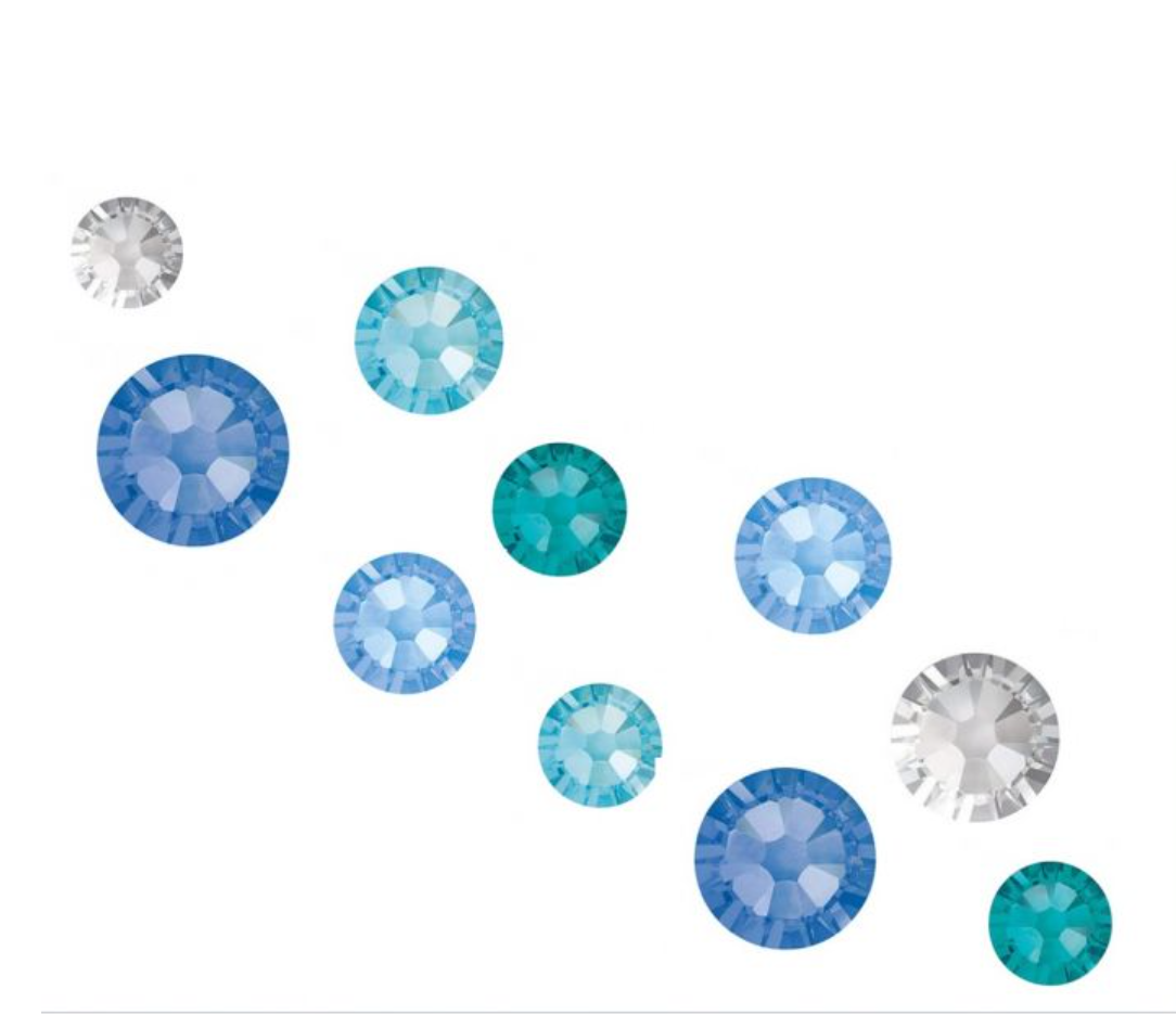 Crystal Parade Swarovski SS5 Blue Lagoon Mix