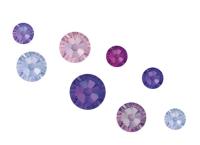 Crystal Parade Swarovski Purple Rain Mix Pack of 100