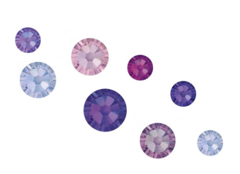 Crystal Parade Swarovski Purple Rain Mix Pack of 100