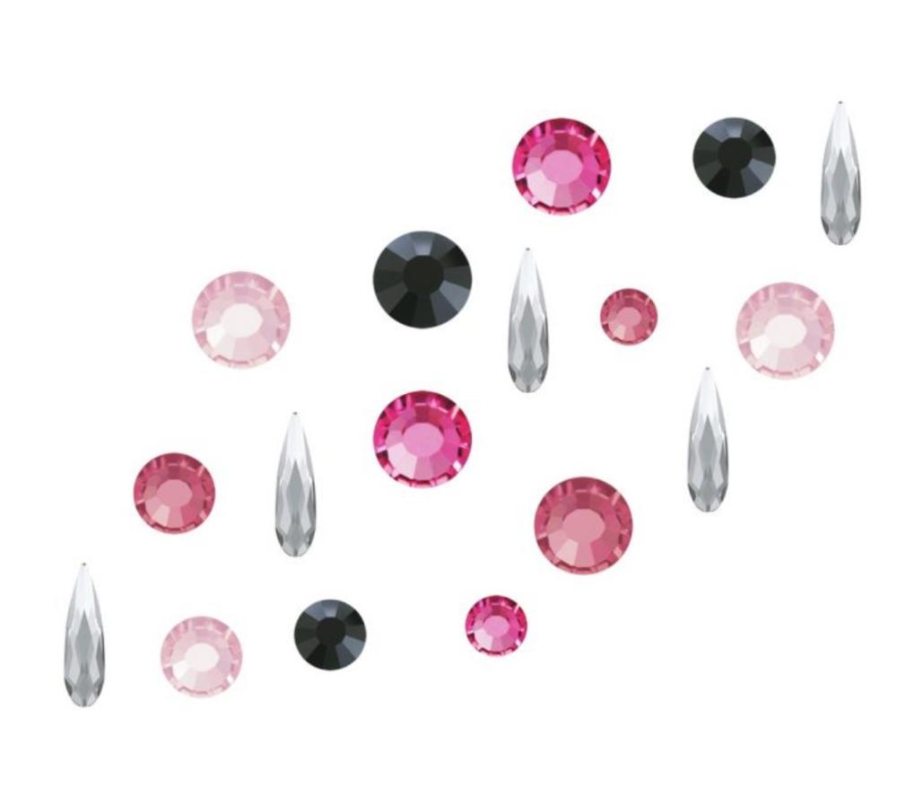 Crystal Parade Preciosa Nail Art Mix - Pack of 100 Pink Croquet