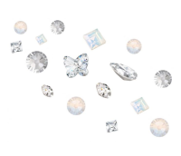 Crystal Parade Preciosa 3D Nail Art Mix Pack of 100 - Frosted Lace