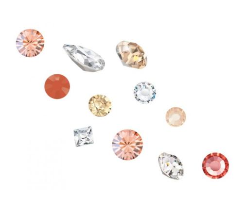 Crystal Parade Preciosa 3D Nail Art Mix Pack of 100 - Coral