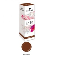 Crystal Nails Art Gel - Brown