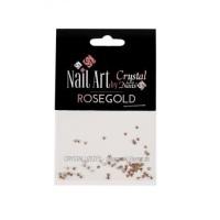Crystal Nails Rose Gold Swarovski Crystals