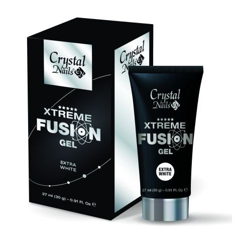 Crystal Nails Xtreme Fusion Gel Extra White 30g
