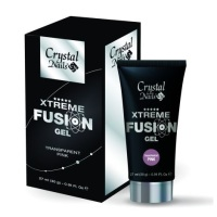 Crystal Nails Xtreme Fusion Gel Transparent Pink 30g
