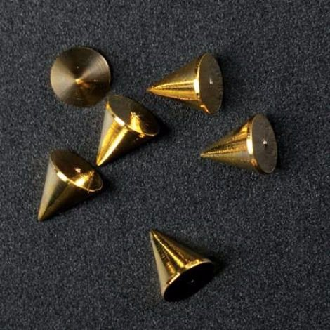 Nail Decor Cone Studs - Gold