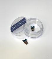 Metal Owl Nail Art Jewellery - Turquoise