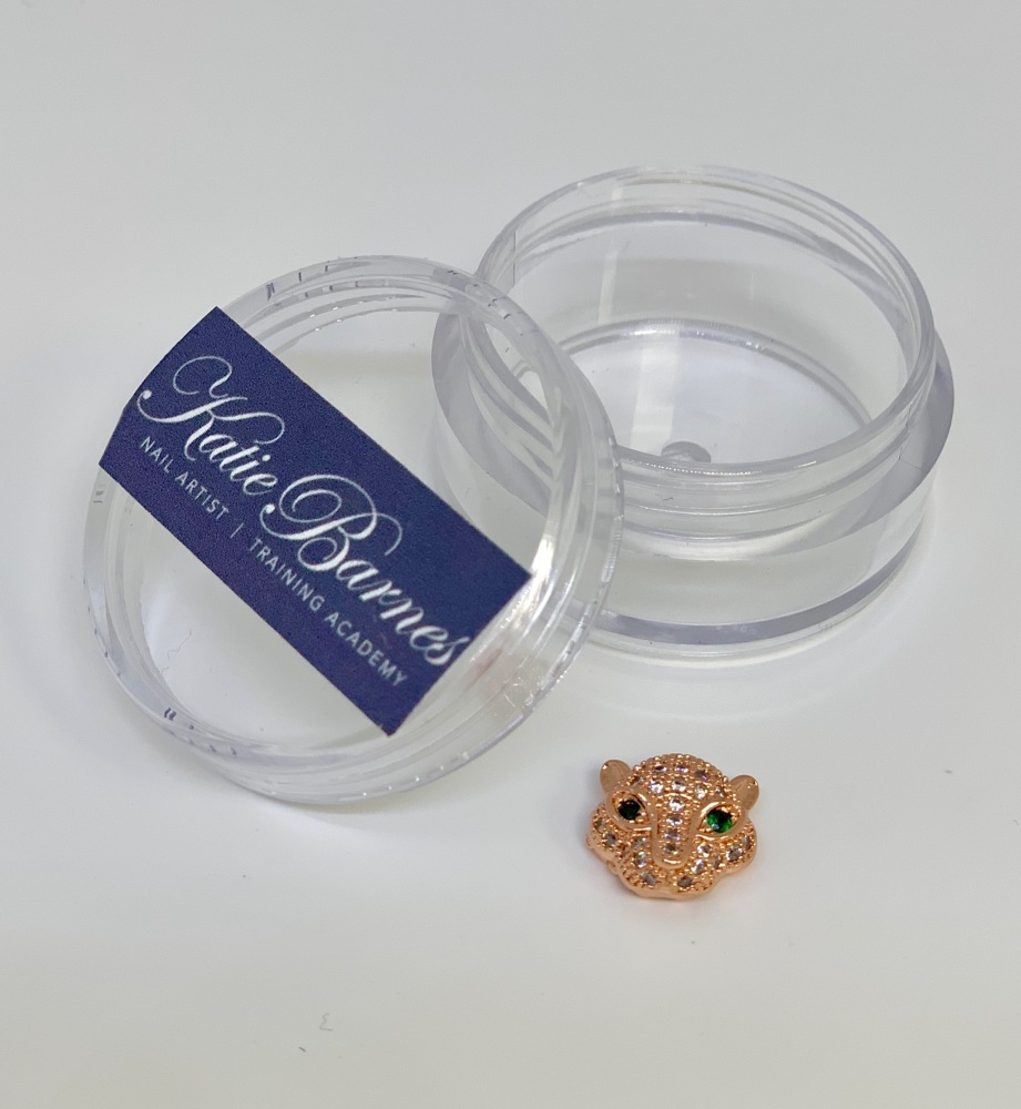Rose Gold Cubic Zirconia Leopard Head Nail Jewellery