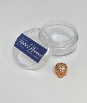 Rose Gold with Clear Cubic Zirconia Skull Nail Jewellery
