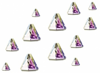 Swarovski Flatback Spike Mixed Sizes - Pack of 12 AB