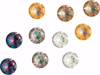 Swarovski Crystal DeLite Mix Pack of 50 - Arabian Nights