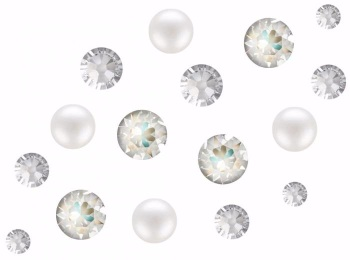 Swarovski Crystal DeLite and Pearl Mix Pack of 100 - Vintage Chic