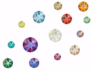 Swarovski Mixed Shimmer Crystals - Pack of 100