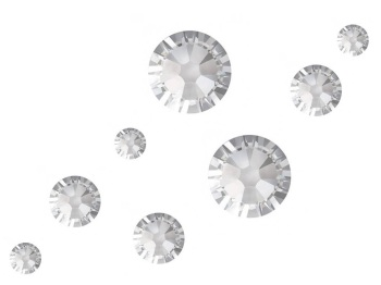 Swarovski No Hot Fix Crystals Mixed Sizes - Pack of 200 Clear Mix