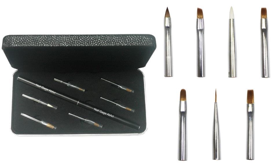 Nail Gaga Master's Multi functional Nail Artist brush set