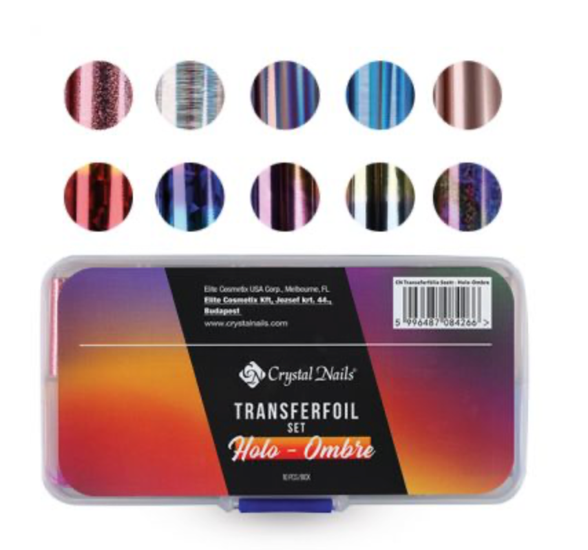 Crystal Nails Transferfoil Set - Holo-Ombre