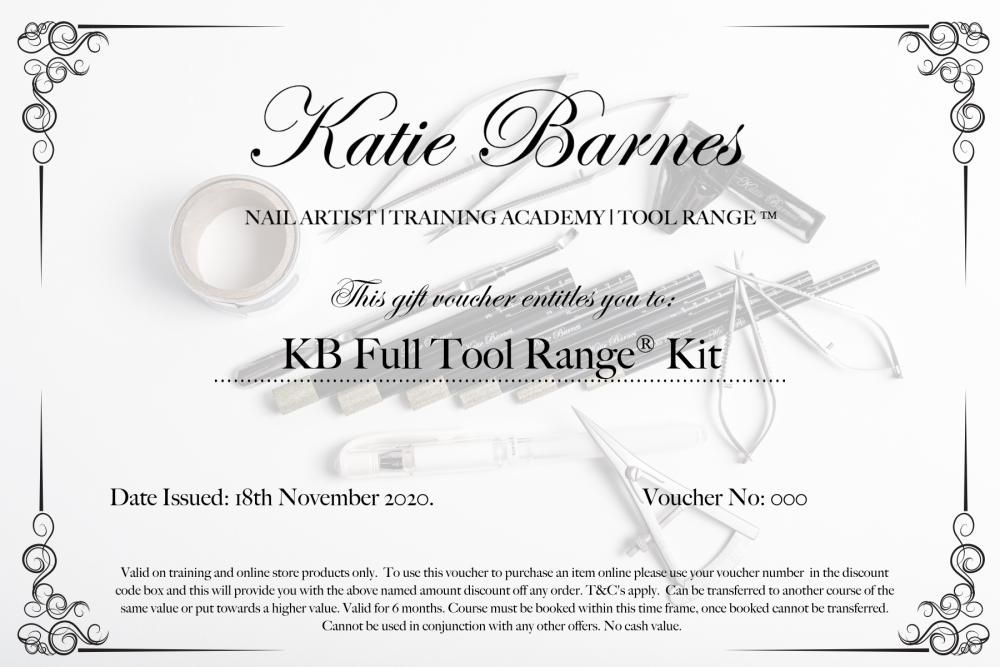 KB Full Tool Range® Kit Gift Voucher