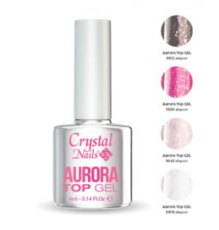 Crystal Nails Aurora Top Gel