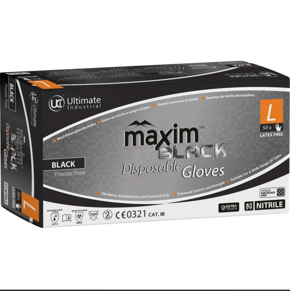 Black DG-Maxim Nitrile Gloves