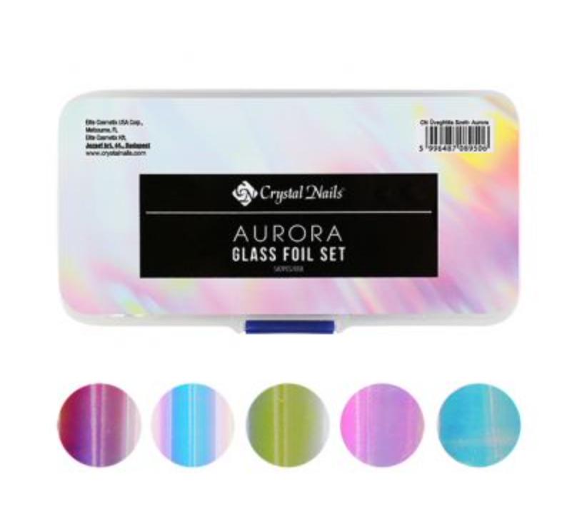 Crystal Nails Aurora Glass Foil Set