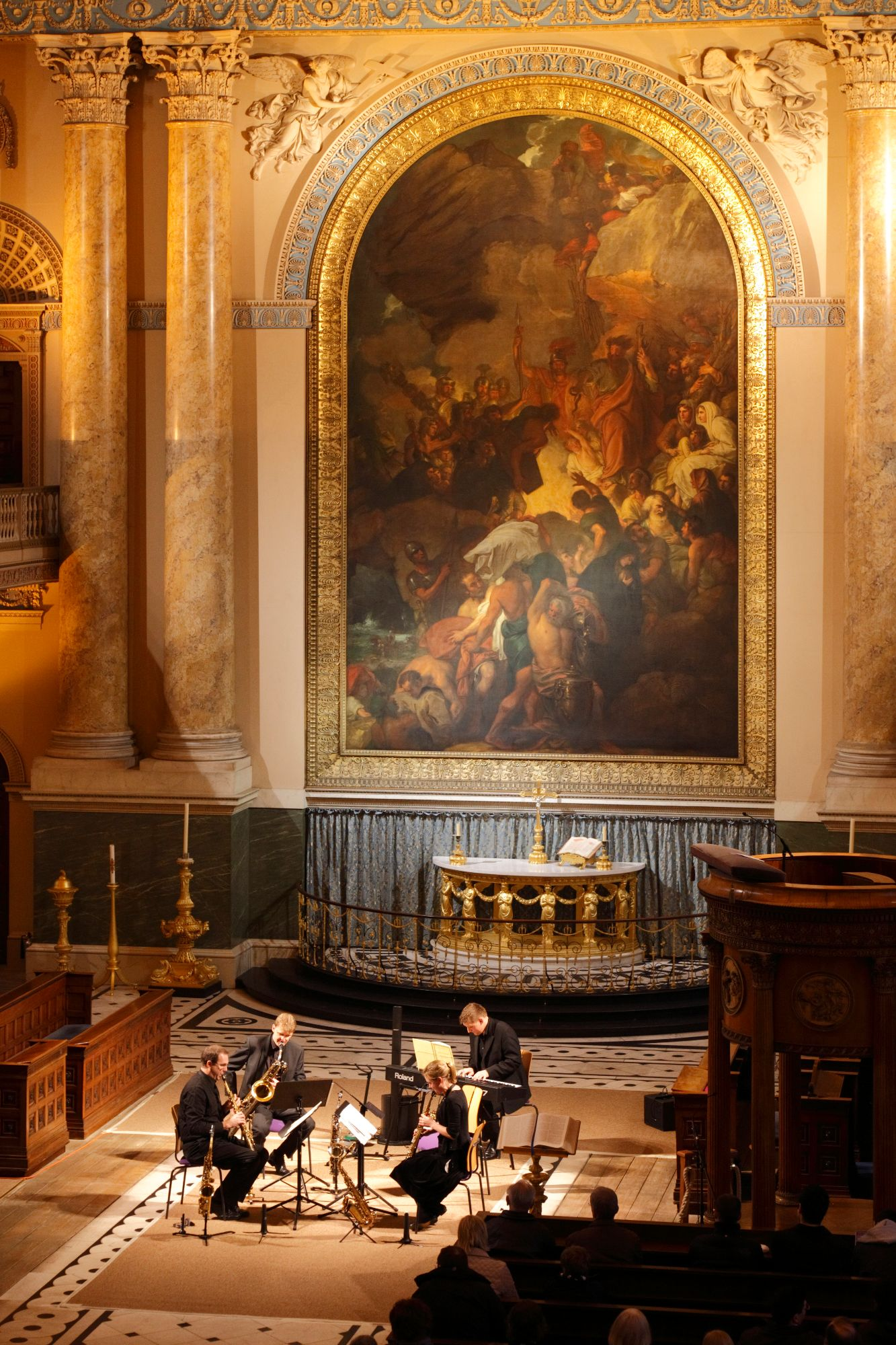 Flotilla performing at Royal Naval Chapel