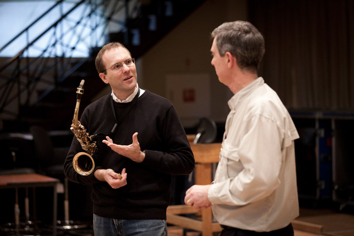 Kyle Horch with composer Roderick Elms