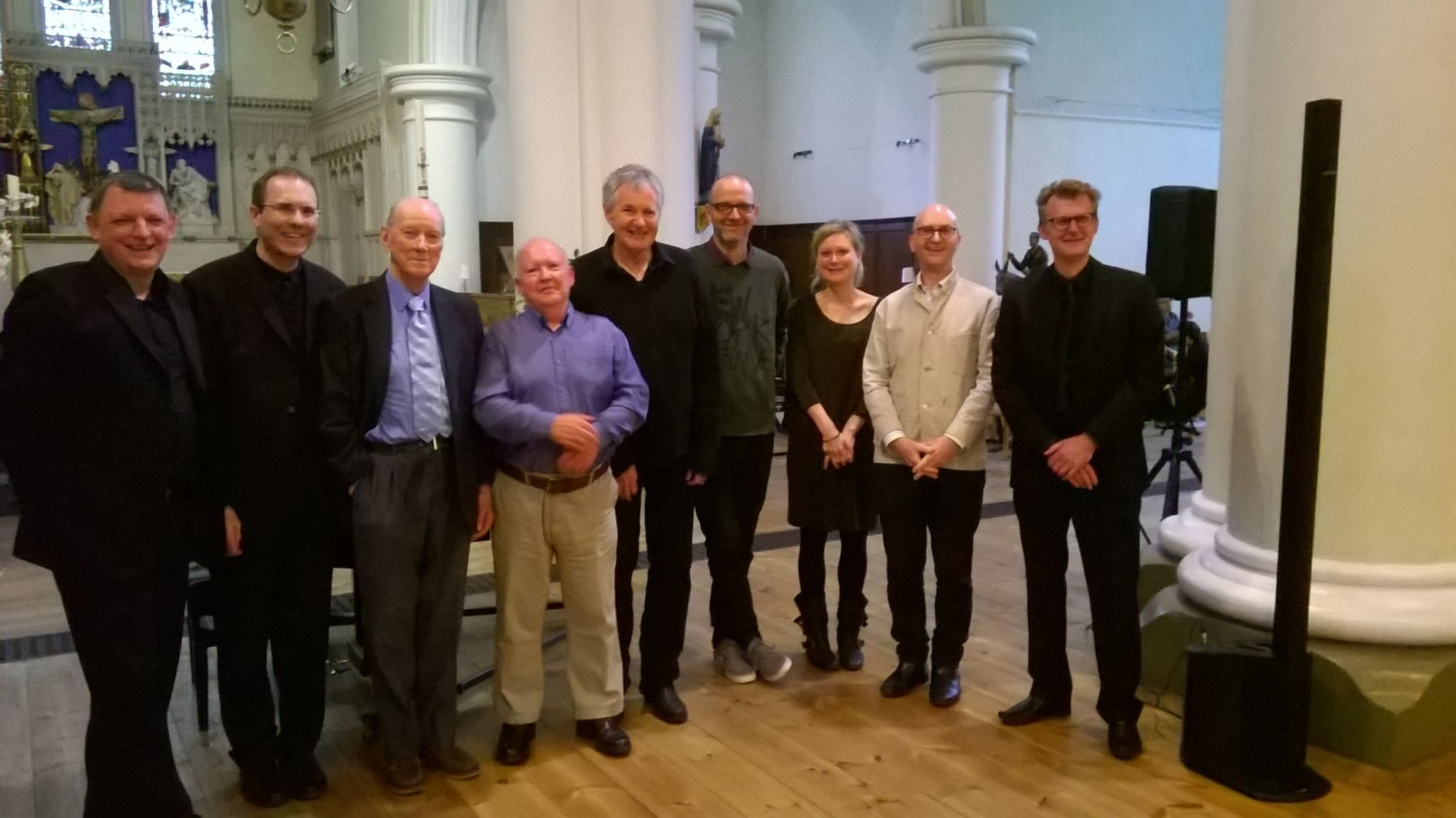 Photograph of Flotilla performers and composers at 04.06.16 Festival