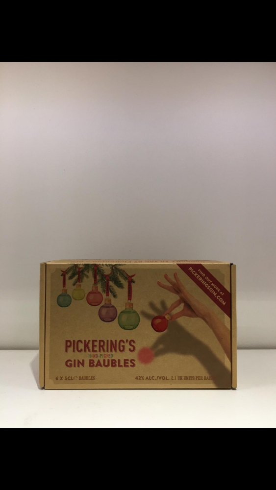 Pickering's Gin Baubles (pack of 6)