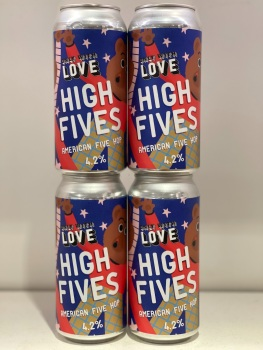 High Fives American five hop - Only with Love Brewing