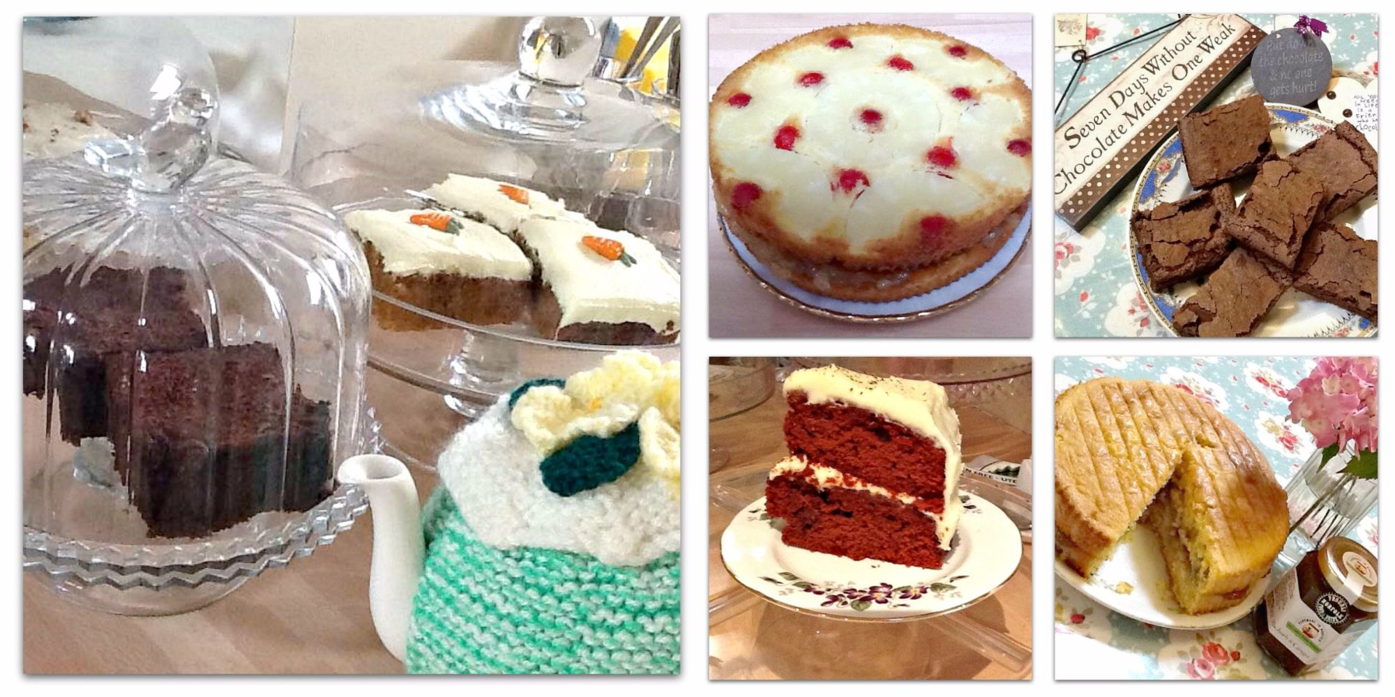 Homemade cakes available at Prima Rosa in Salhouse, Norfolk