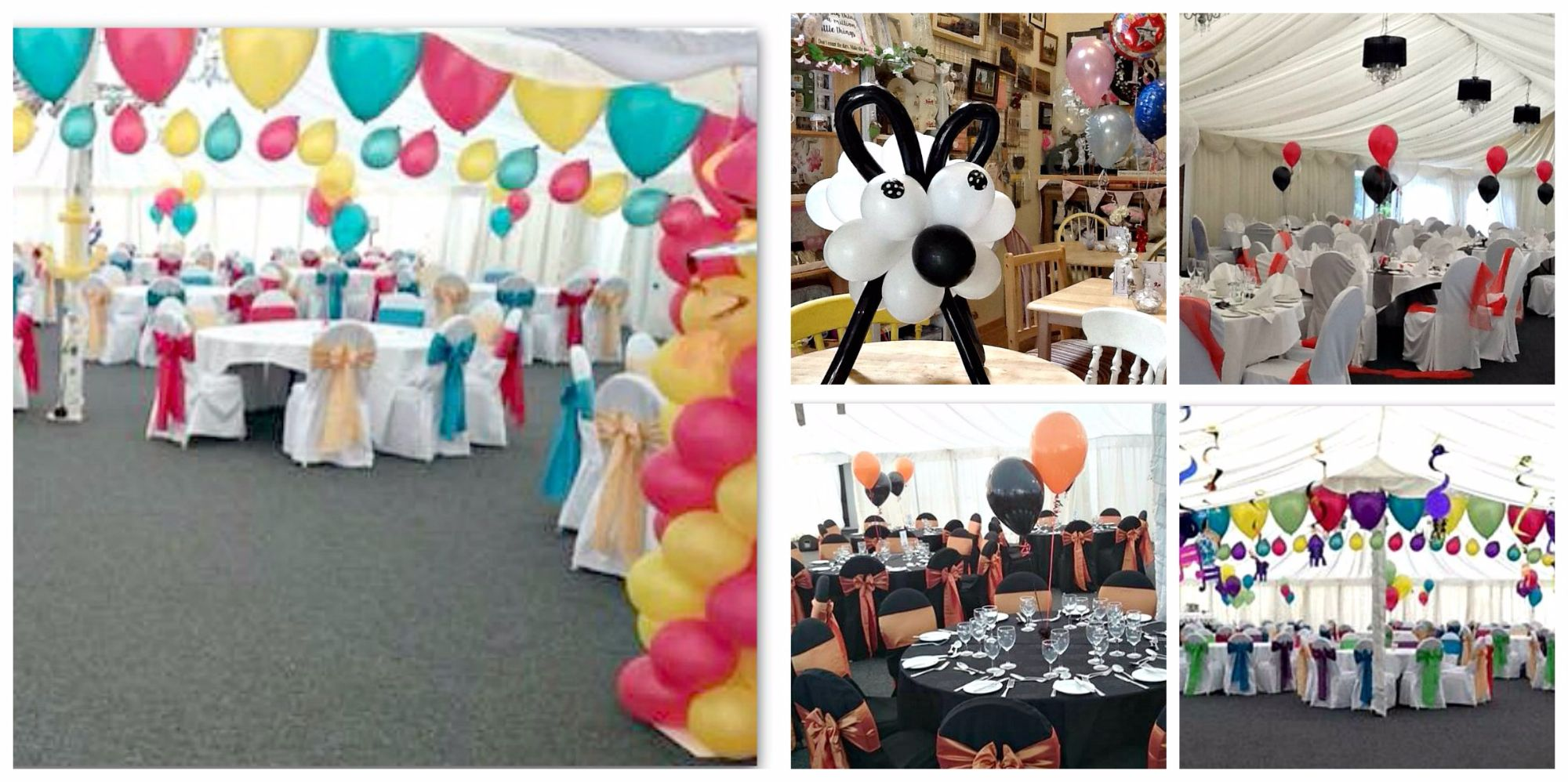 Balloons available from Prima Rosa in Salhouse, Norfolk