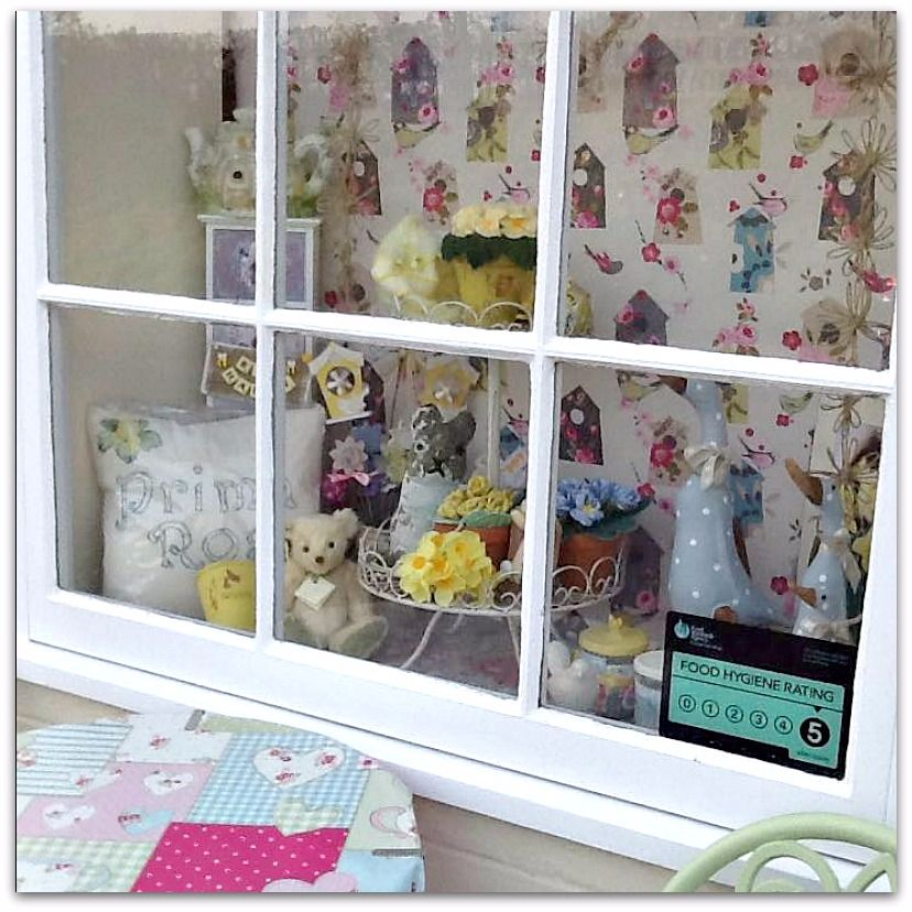Spring Window Display at Prima Rosa in Salhouse, Norwich, Norfolk