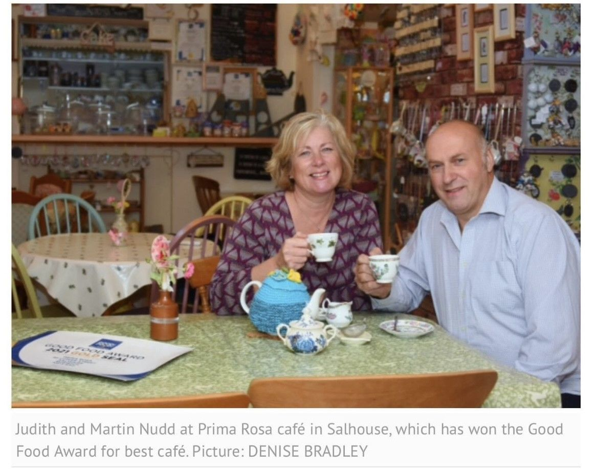 Judith & Martin Nudd, the owners of Prima Rosa in Salhouse, Norfolk