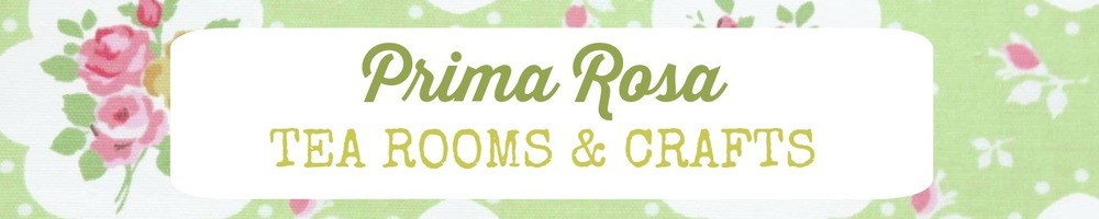 Prima Rosa Tea Rooms & Crafts, site logo.