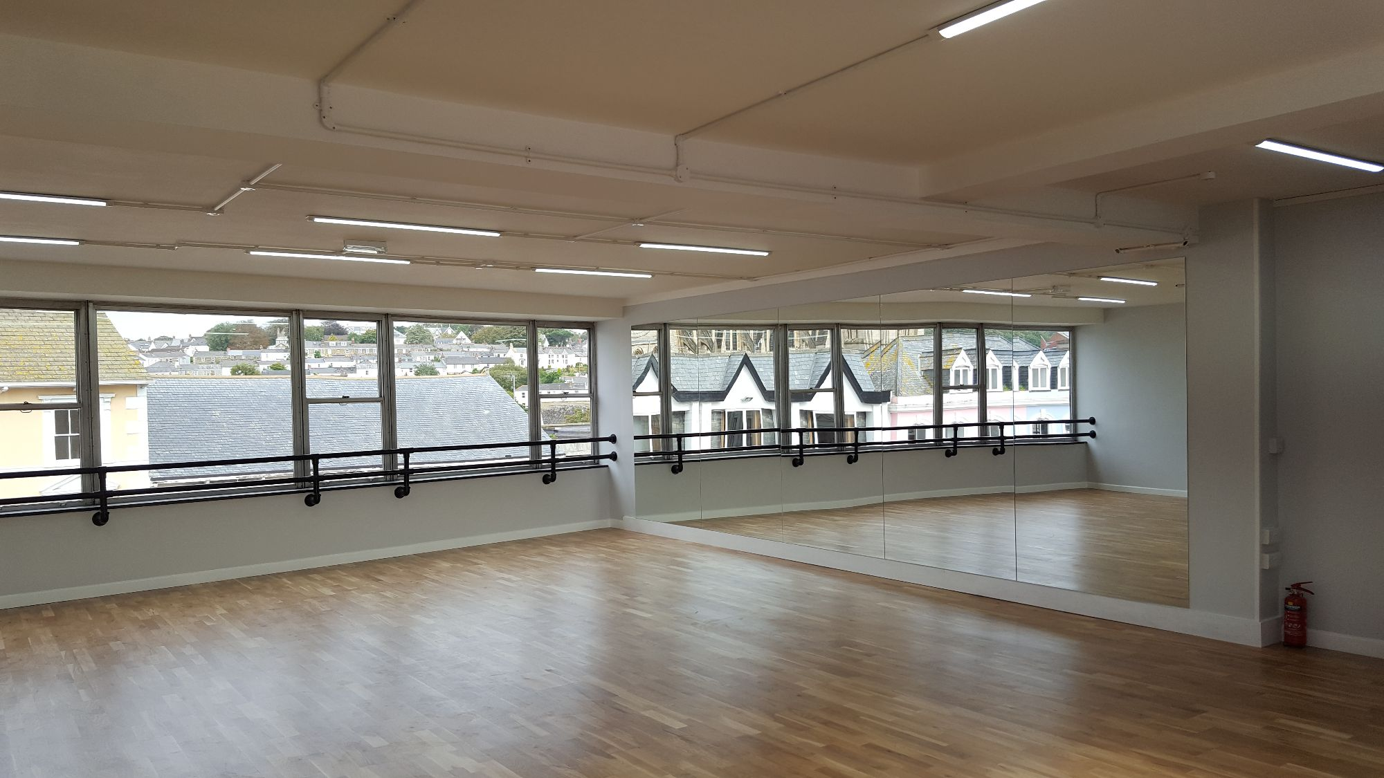 Dance Studio or Fitness Studio for hire in the centre of Truro City in Cornwall. Suitable for rehearsals, group or private bookings.