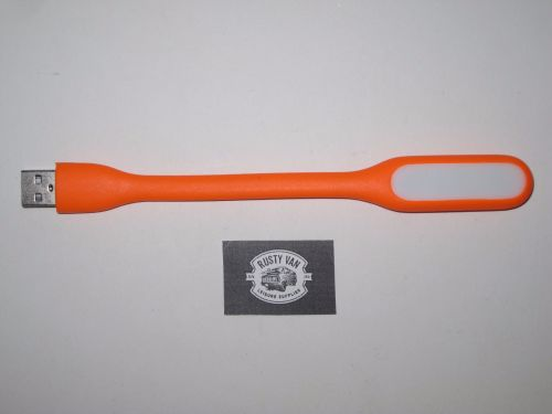 Orange Flexible USB Light.